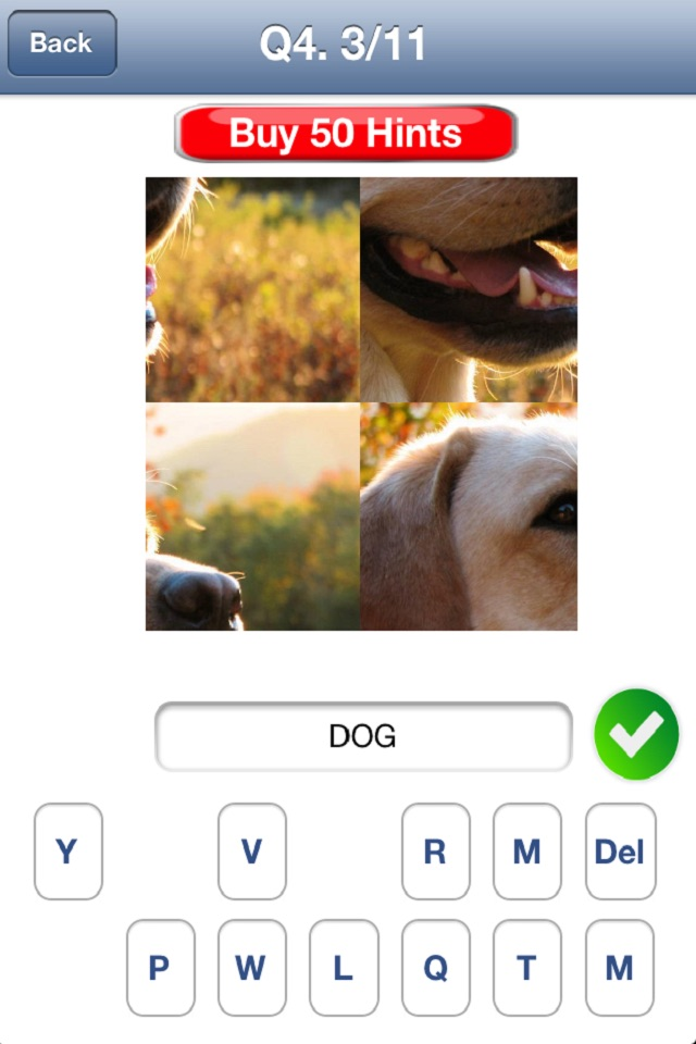Hack tool for 4 Pics 1 Word - Close Up Edition