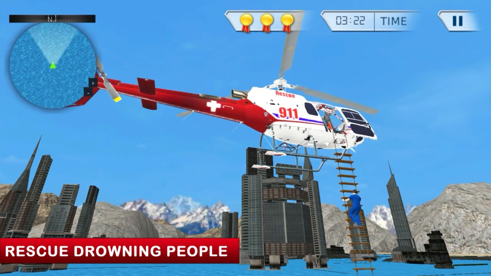 911 Ambulance Rescue Helicopter Simulator 3D Game cheat codes