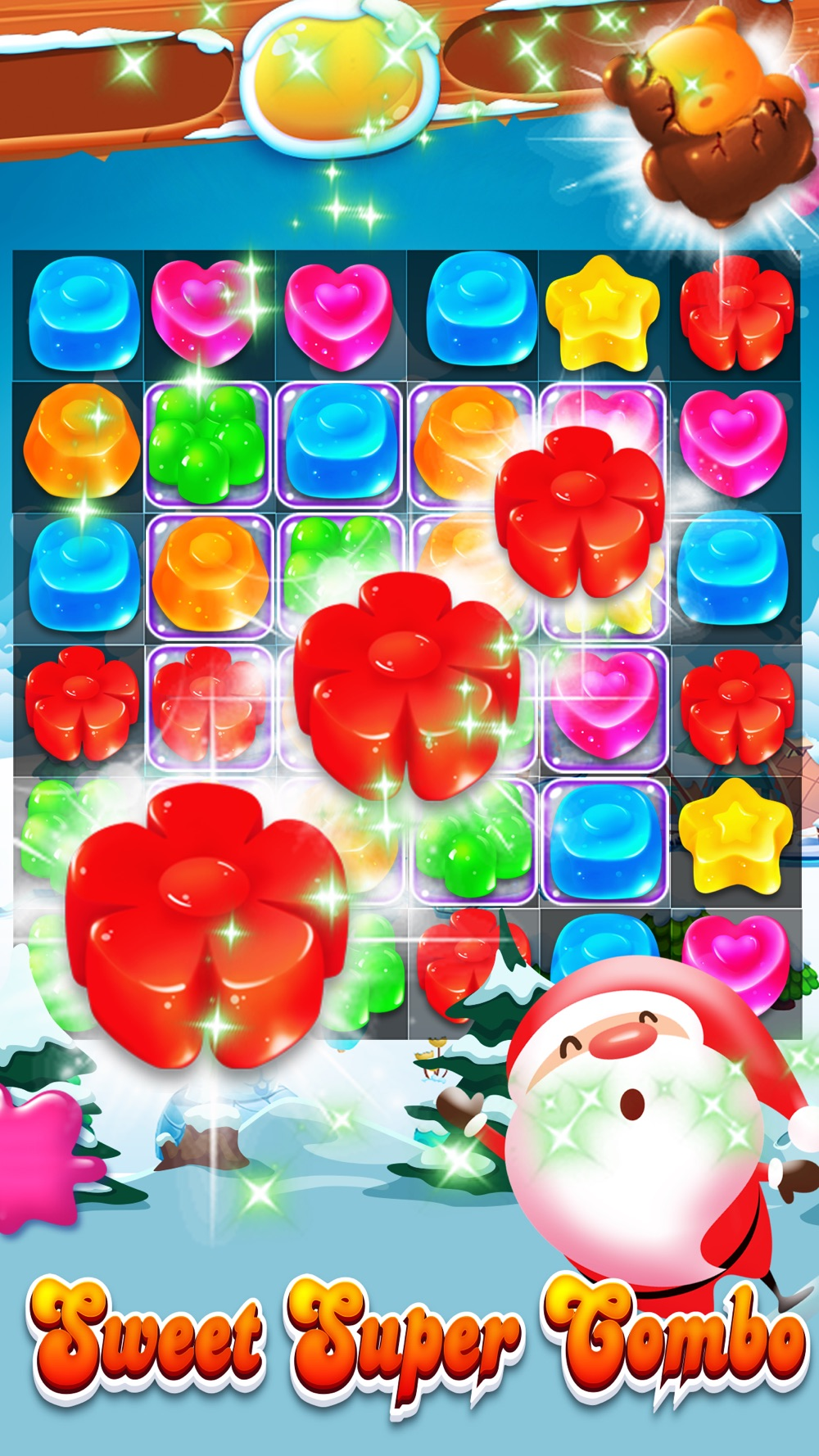 Candy Gems Christmas – Match 3 Lollipop Puzzle hack tool
