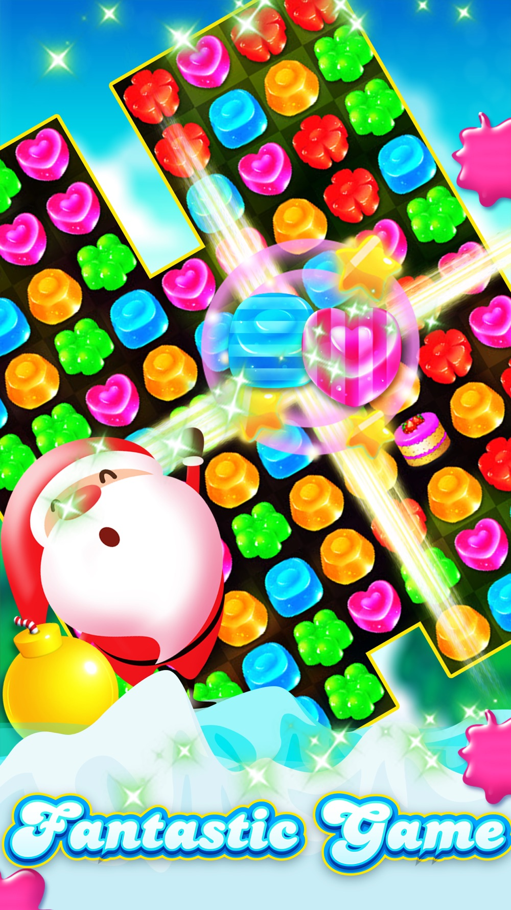 Hack tool for Candy Gems Christmas - Match 3 Lollipop Puzzle