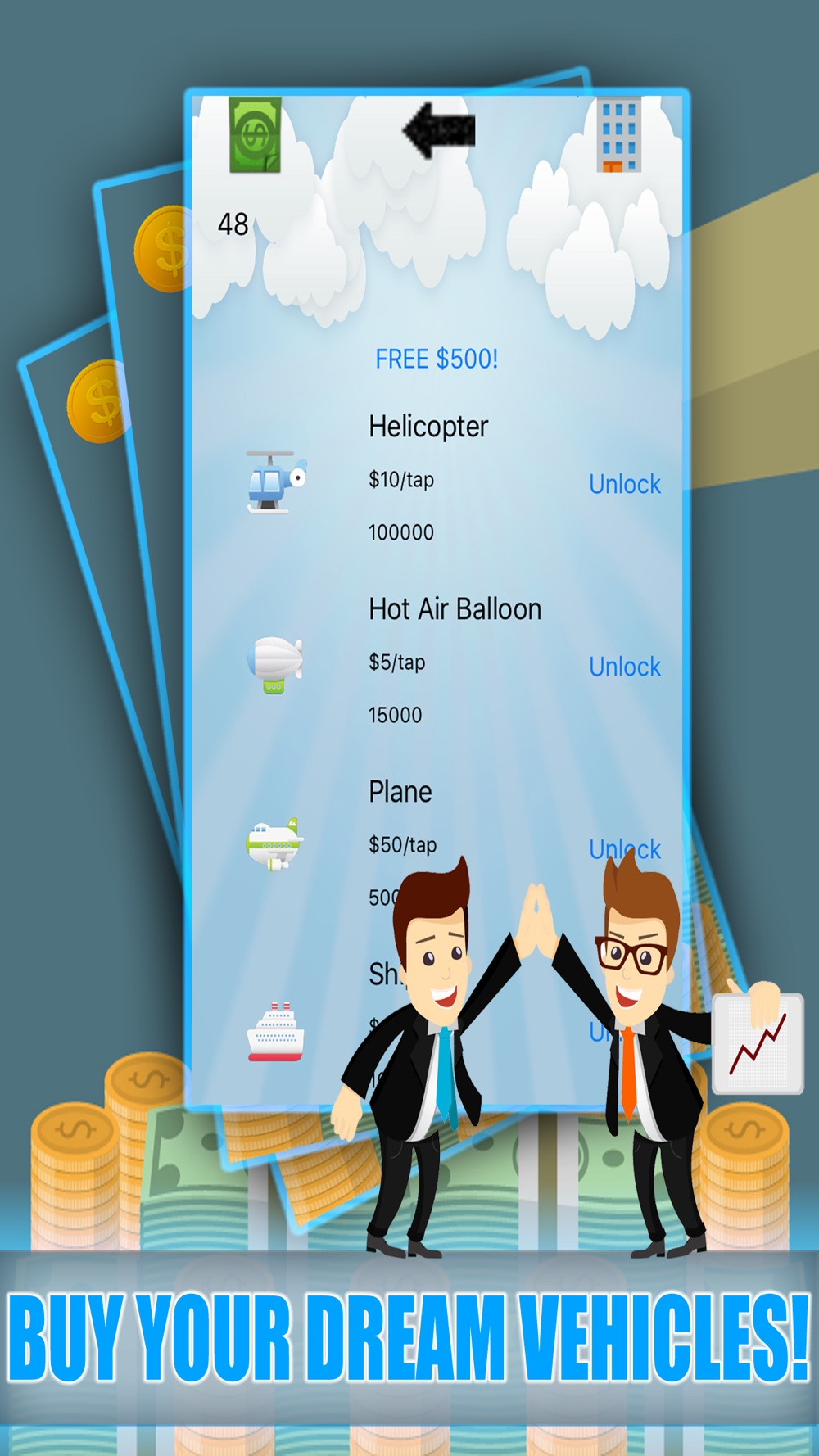 Hack tool for Coin Billionaire - Clicker Road To Your Own Successful Business Free Game