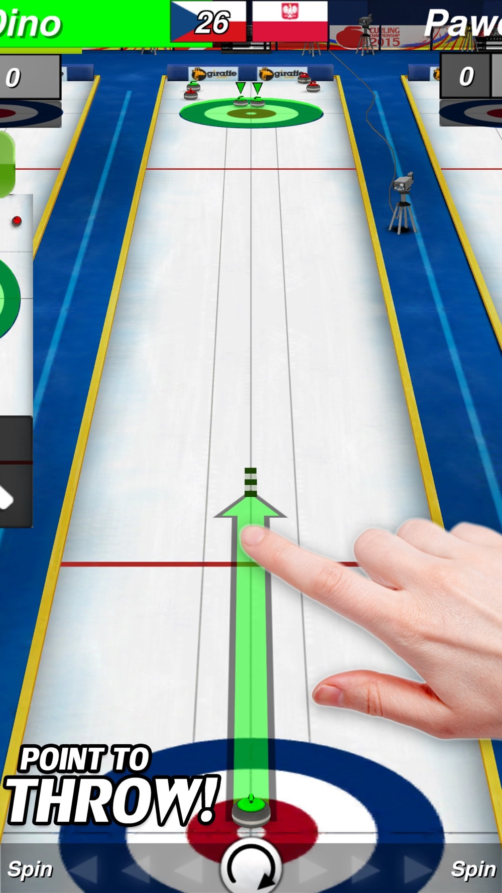 Curling 3D Champion cheat codes