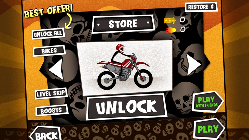 Hack tool for Dirt Bike Death Race - Free Motorcycle Hill Chase Racing Game