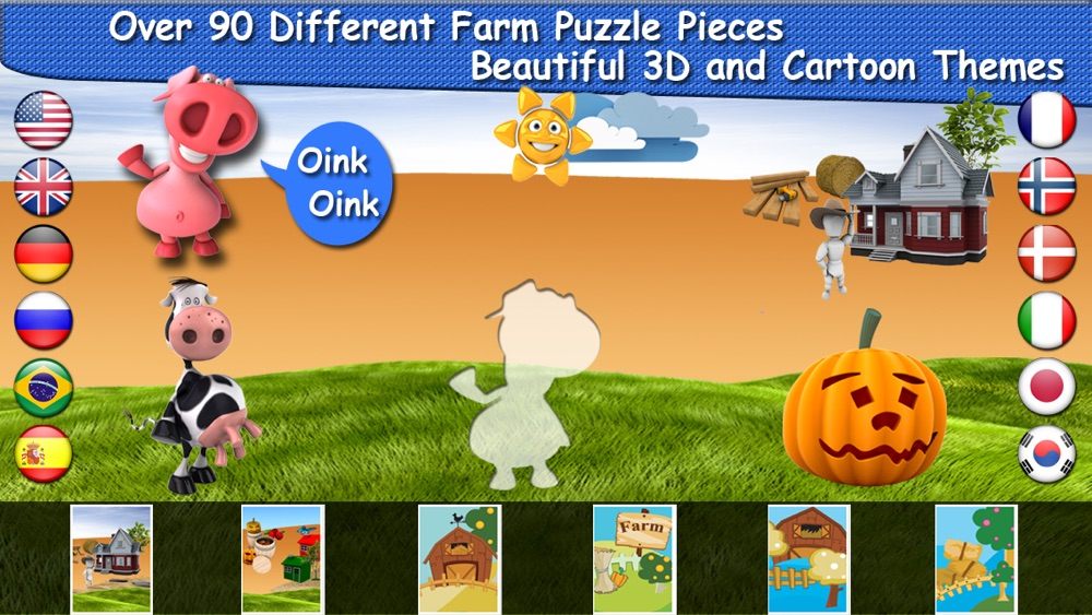 Farm Puzzle for Babies Free: Move Cartoon Images and Listen Sounds of Animals or Vehicles with Best Jigsaw Game and Top Fun for Kids, Toddlers and Preschool cheat codes