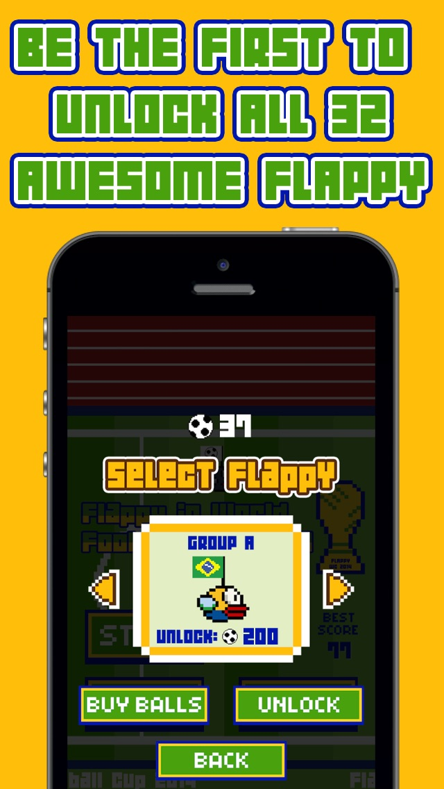 Hack tool for Flappy in Football cup 2014 Edition