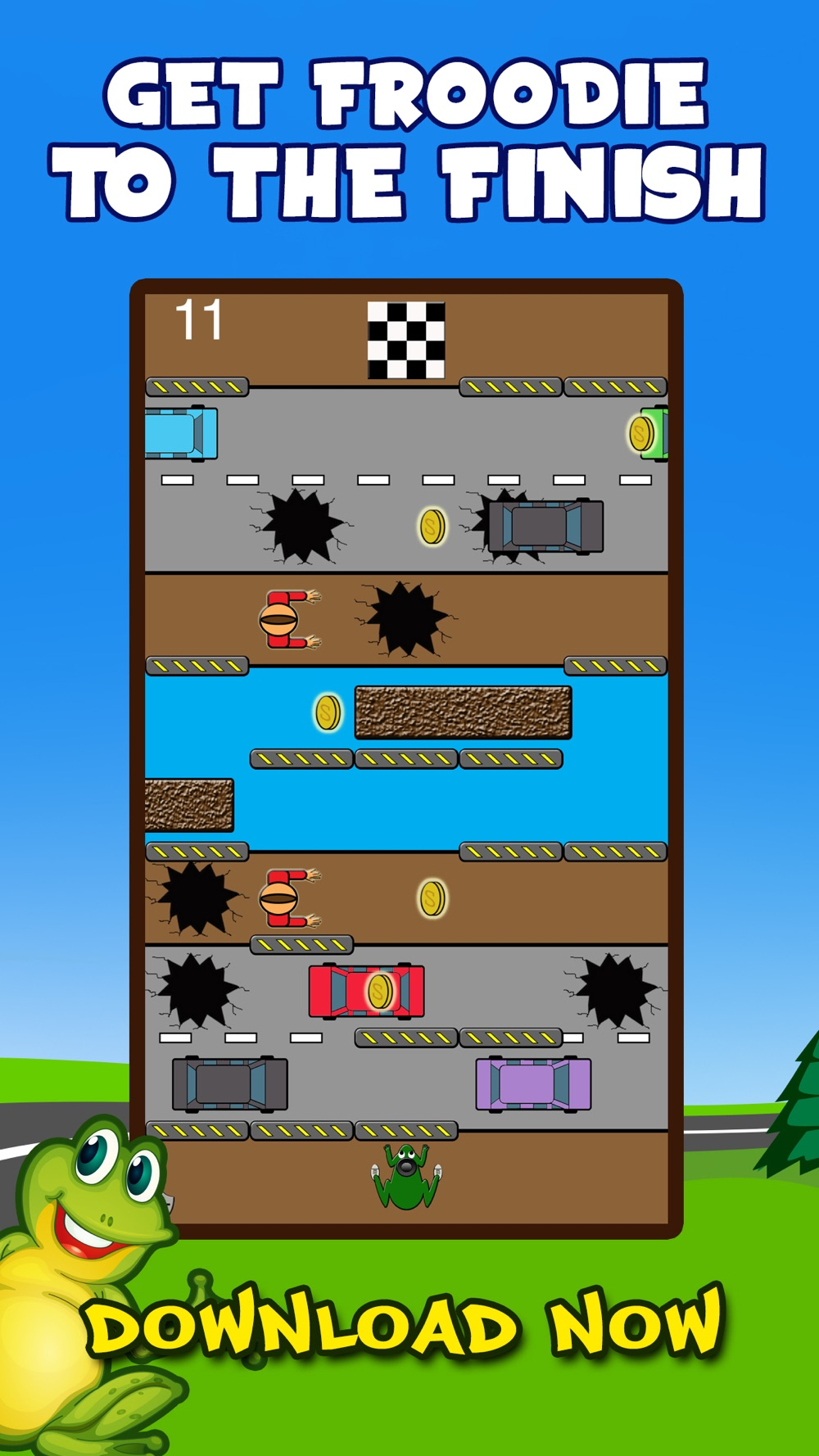Froodie – Road Crossing Frog Frogger cheat codes