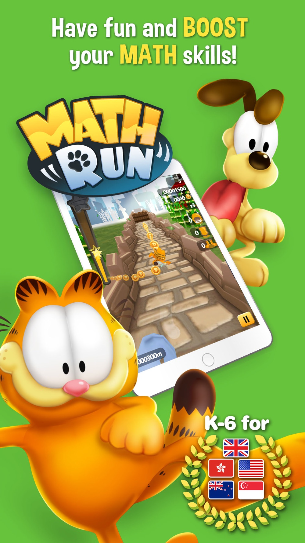 Garfield Math Run cheat codes