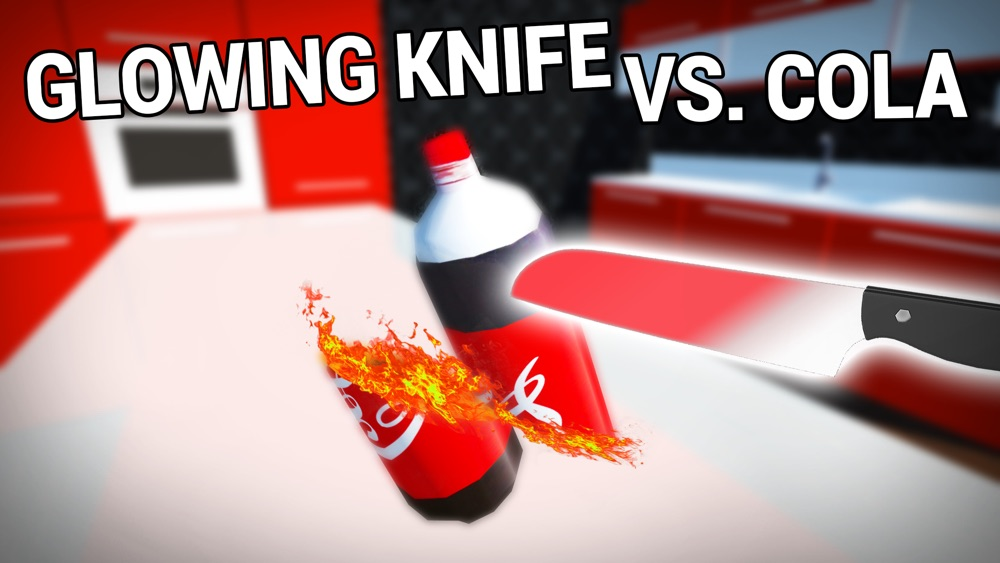 Glowing 1000 Degree Hot Knife vs Cola cheat codes