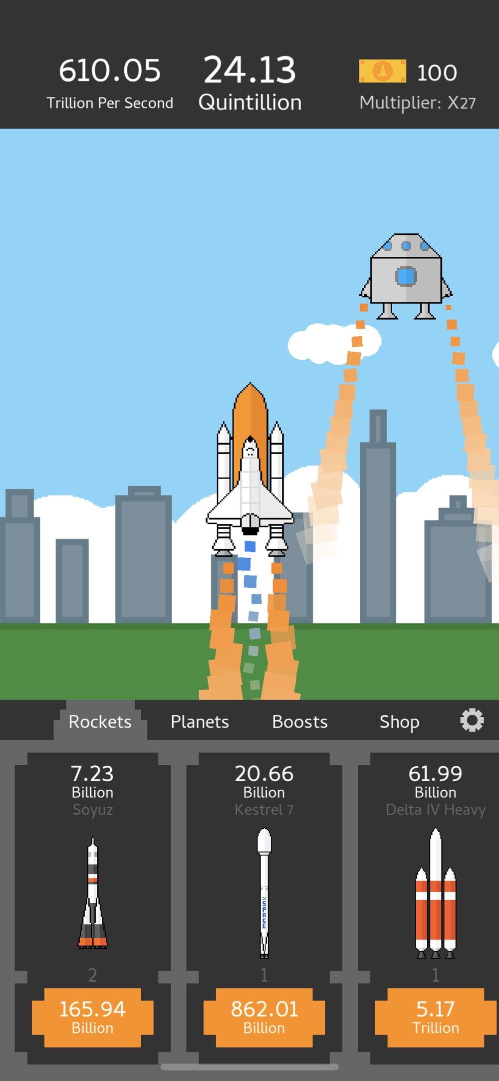 Hack tool for Idle Rockets