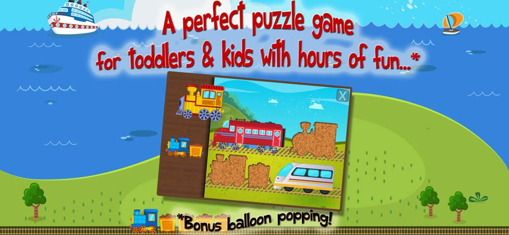 Kids Train Puzzle for Toddlers hack tool