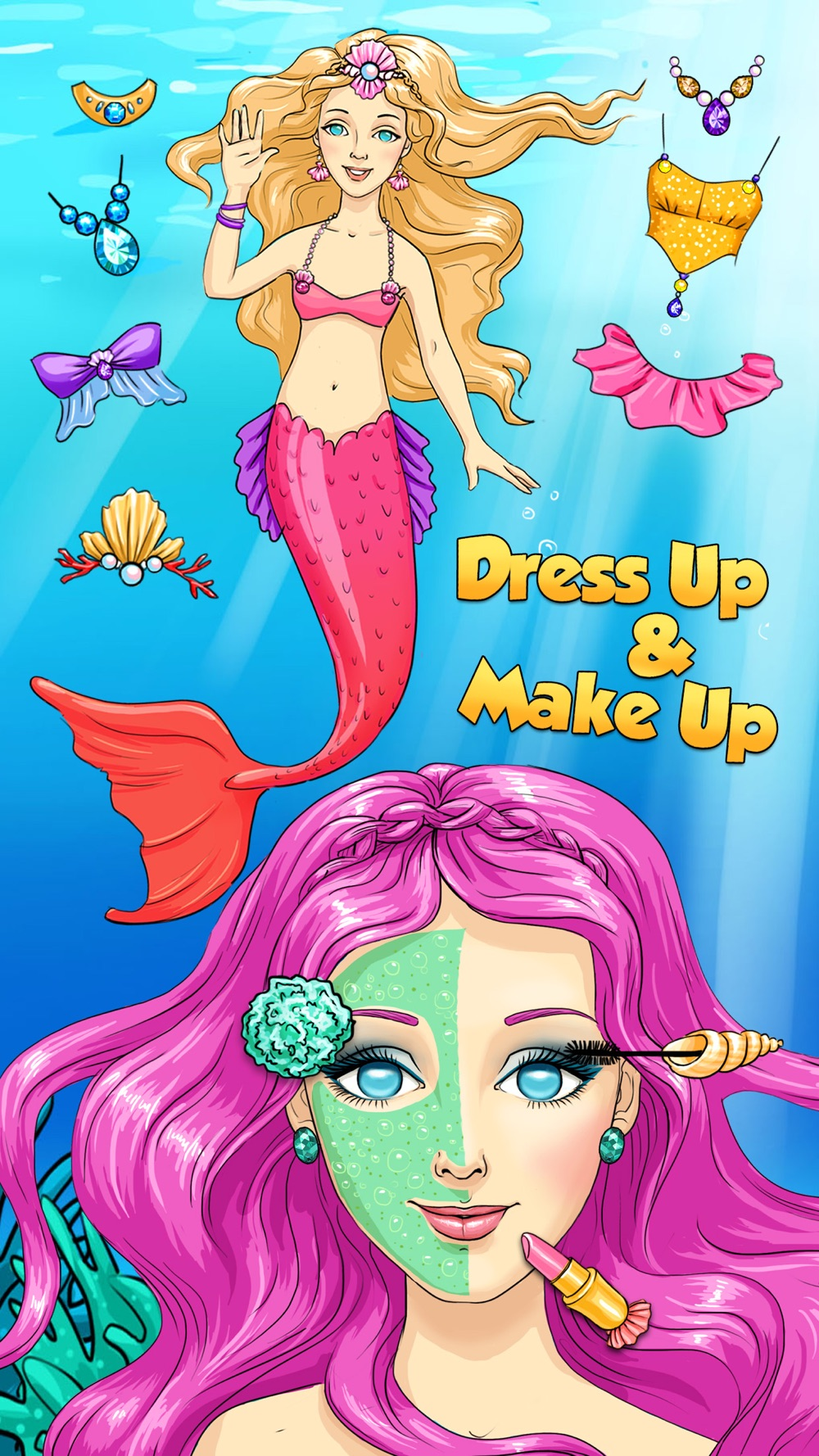 Hack tool for Mermaid Ava and Friends - Ocean Princess Hair Care, Make Up Salon, Dress Up and Underwater Adventures