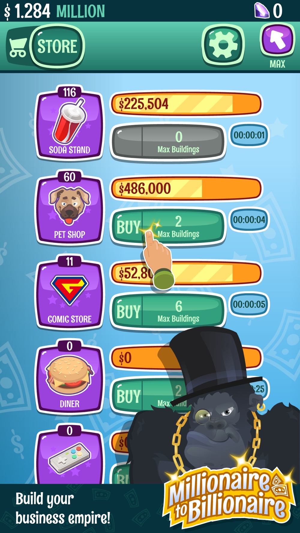 Hack tool for Millionaire To Billionaire - Clicker Game