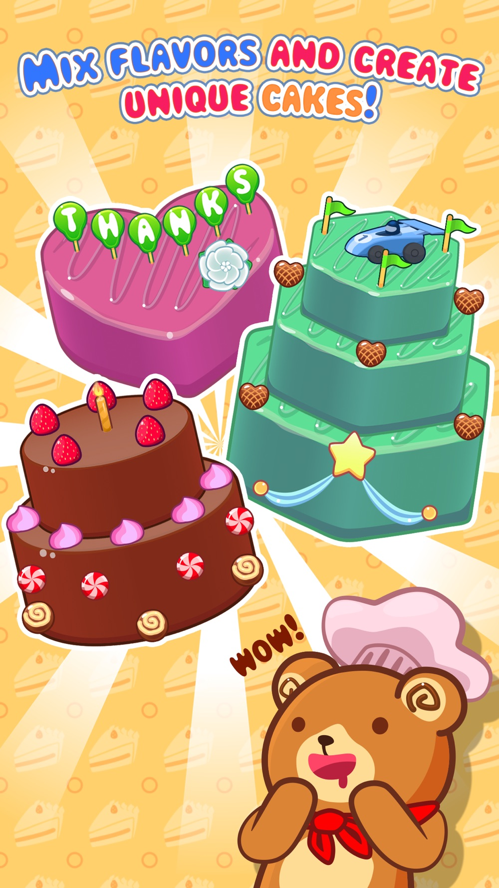 My Cake Maker – Create, Decorate and Eat Sweet Cakes cheat codes