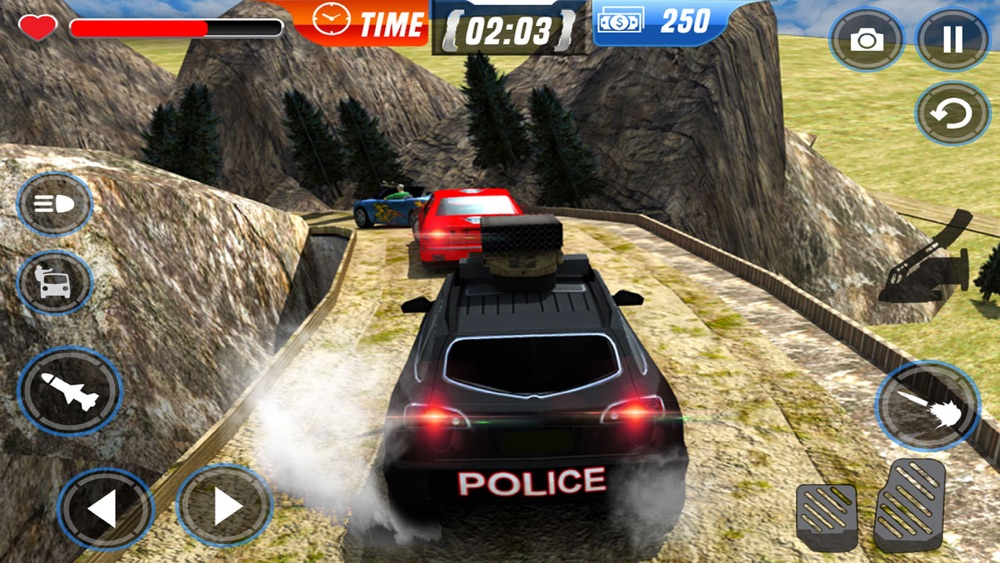 Hack tool for Off-Road Police Car Driver Chase: Real Driving & Action Shooting Game