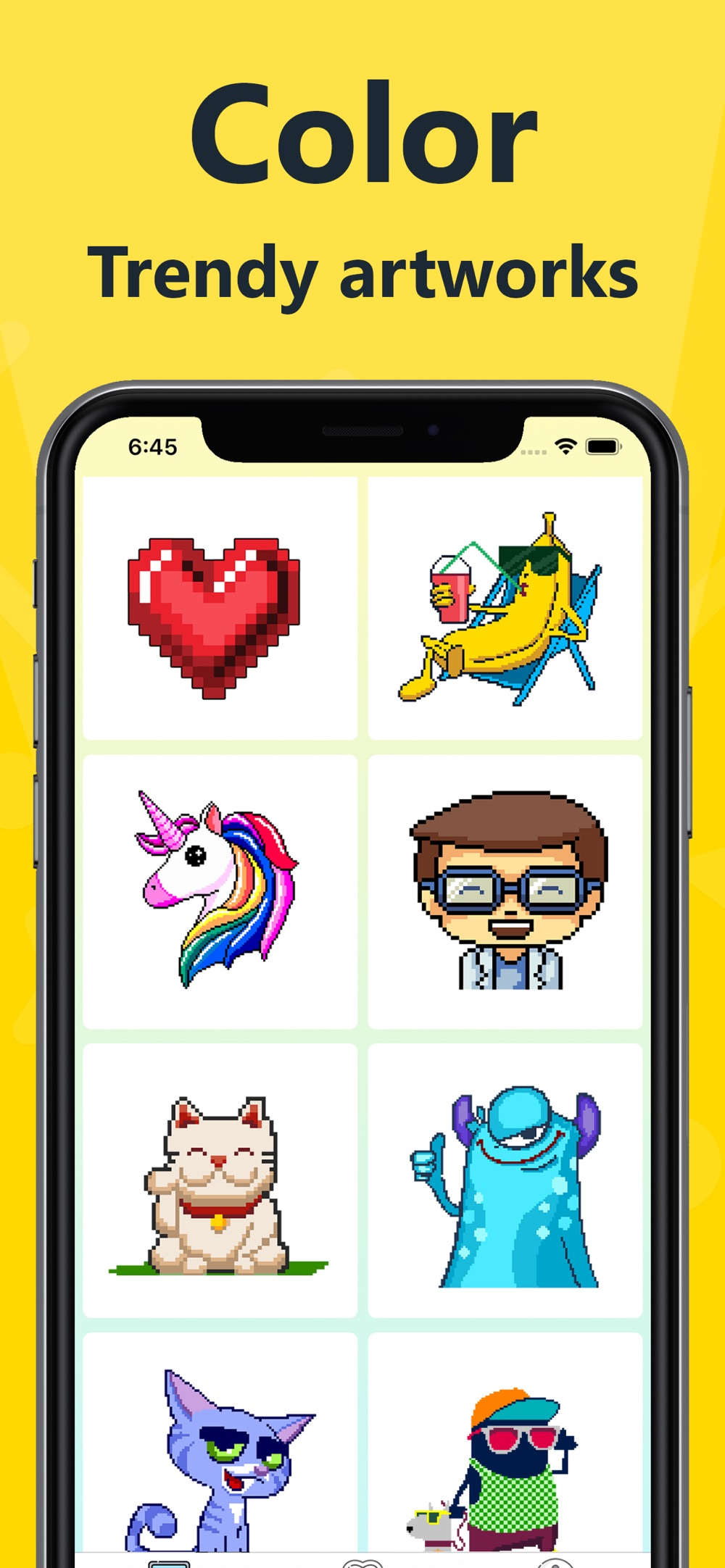 Pixel 2D – color by number cheat codes