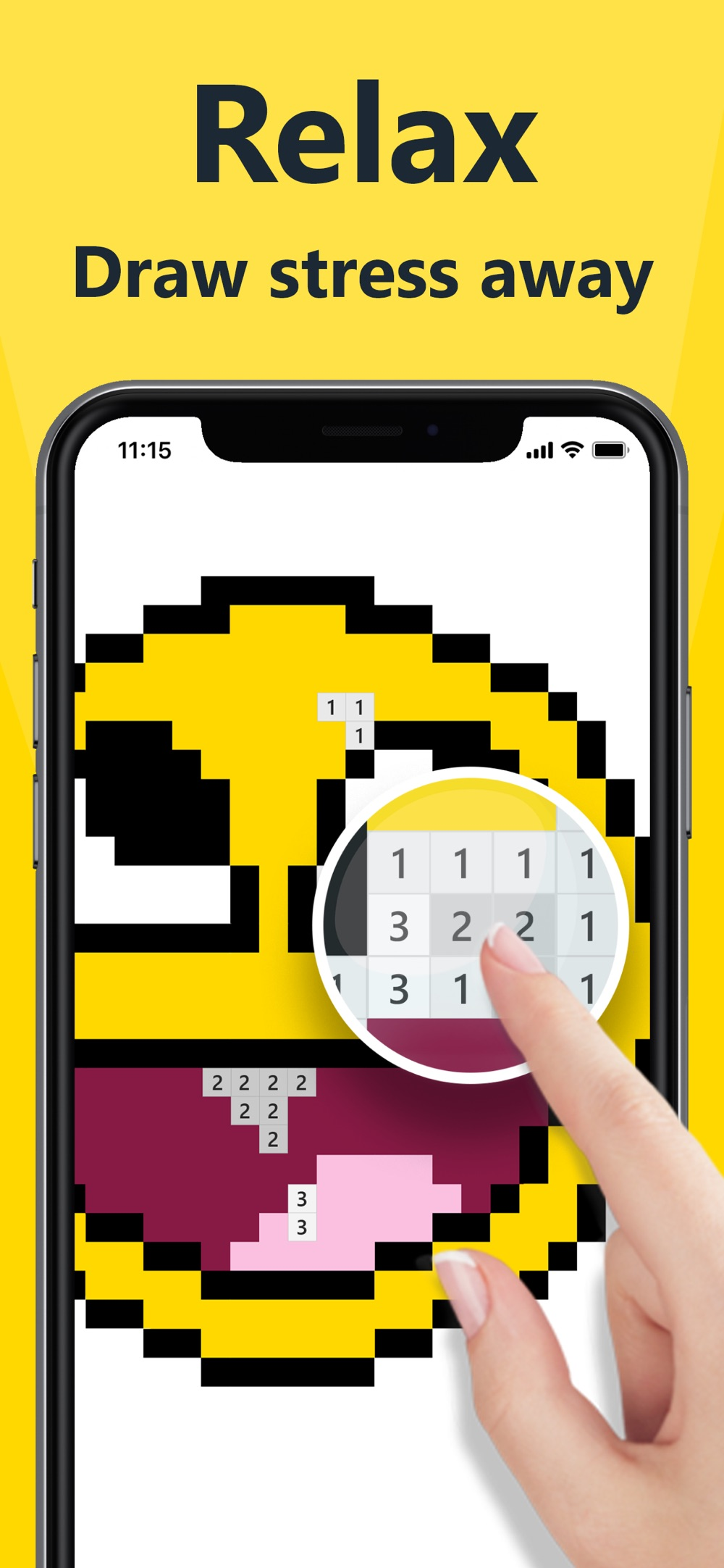 Hack tool for Pixel 2D – color by number