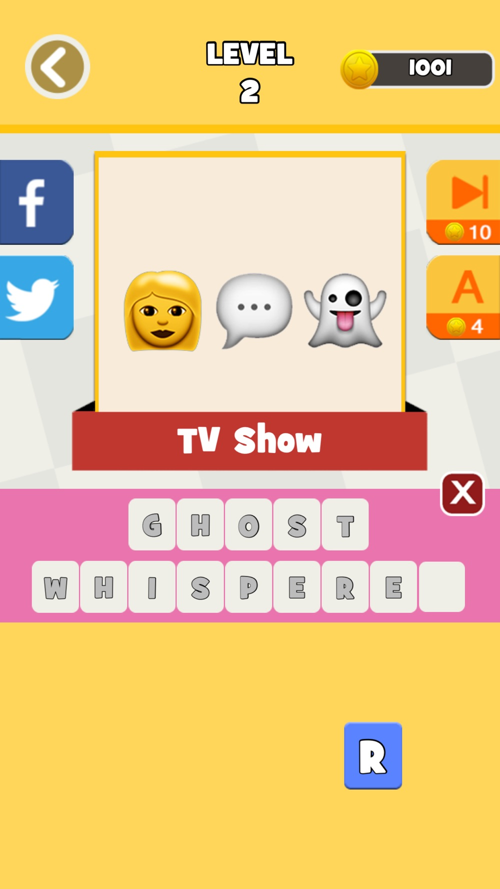 Hack tool for QuizPop Mania! Guess the Emoji Movies and TV Shows - a free word guessing quiz game