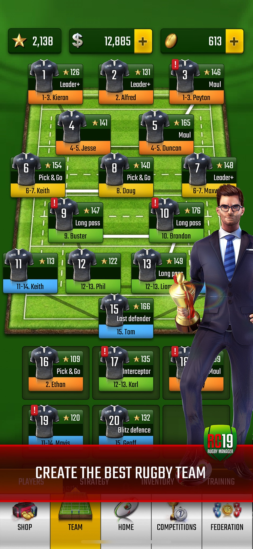 Hack tool for Rugby Champions 19
