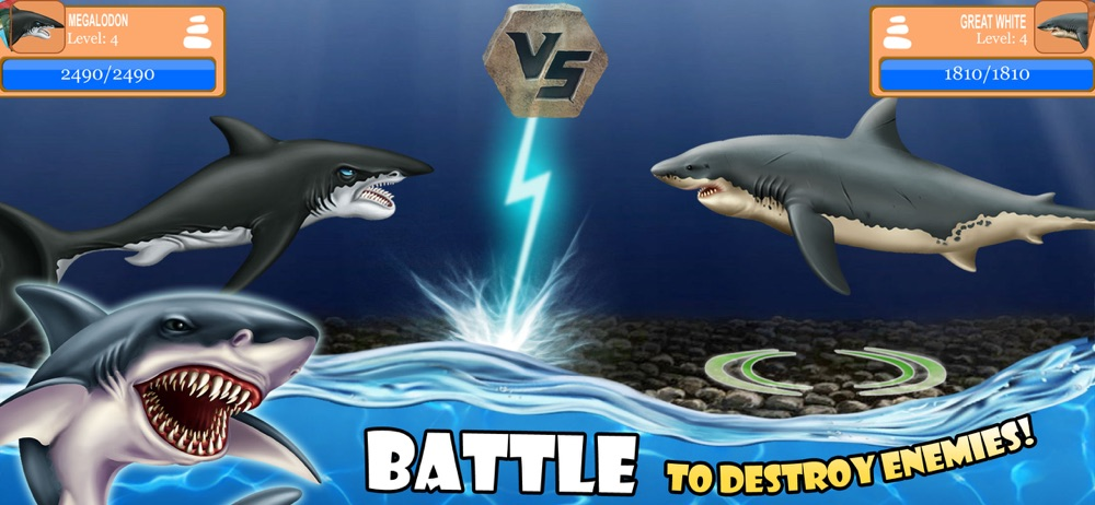 Hack tool for SHARK WORLD -water battle game