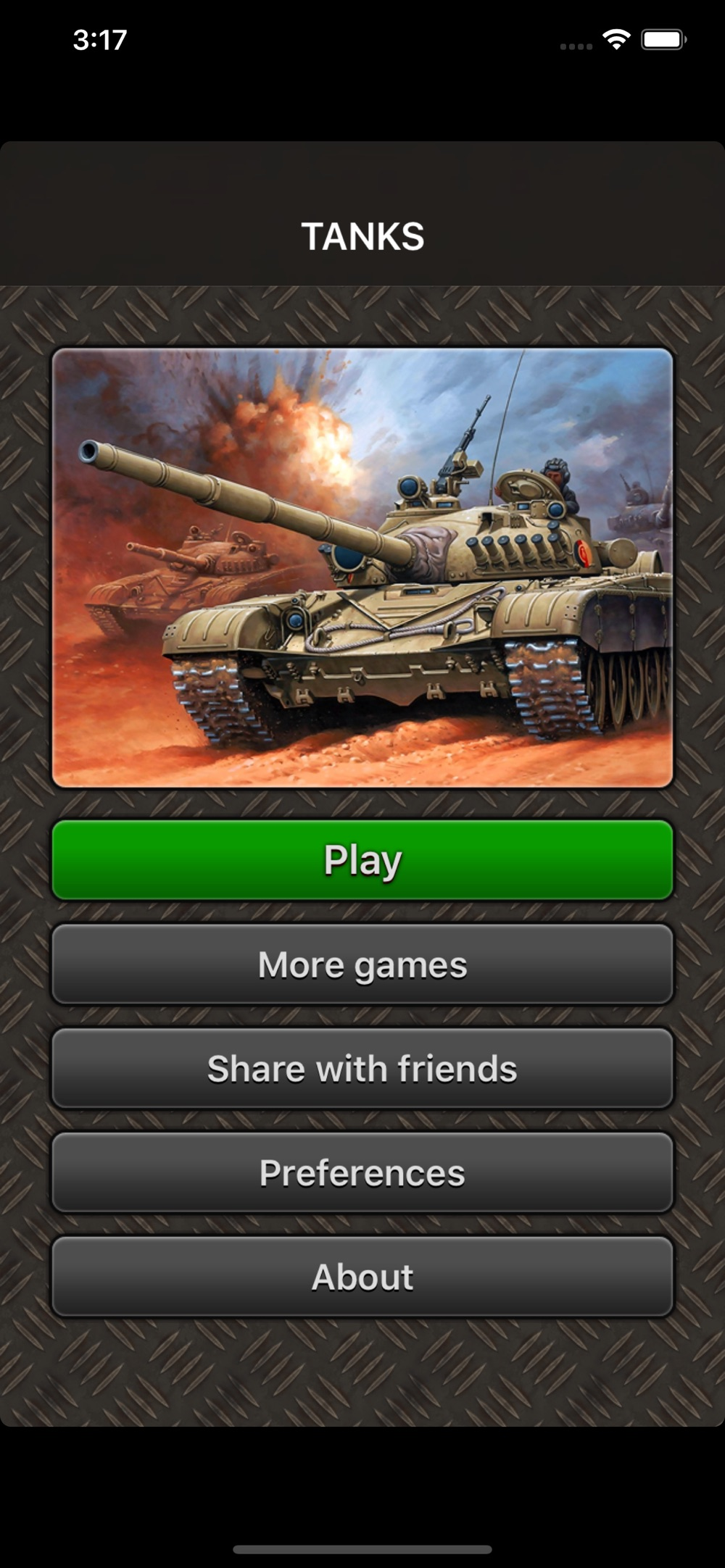 TANKS war game cheat codes