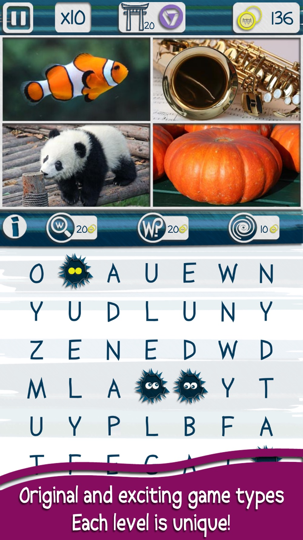 Hack tool for Worchy - Picture Word Search